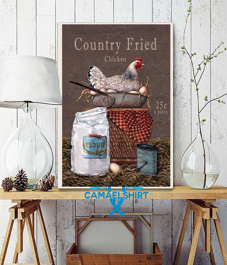 Country Fried Chicken vertical poster wall decor