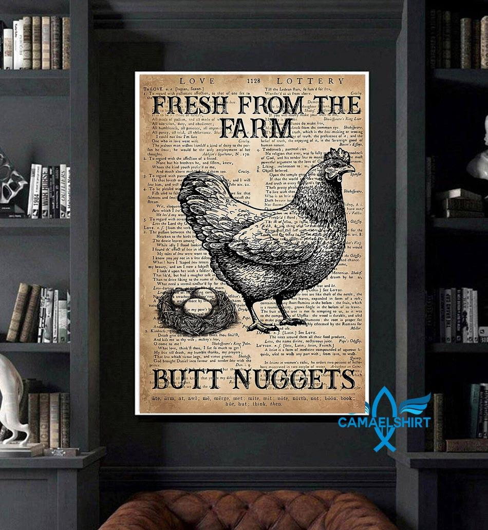 Dictionary chicken fresh from the farm butt nuggets poster art