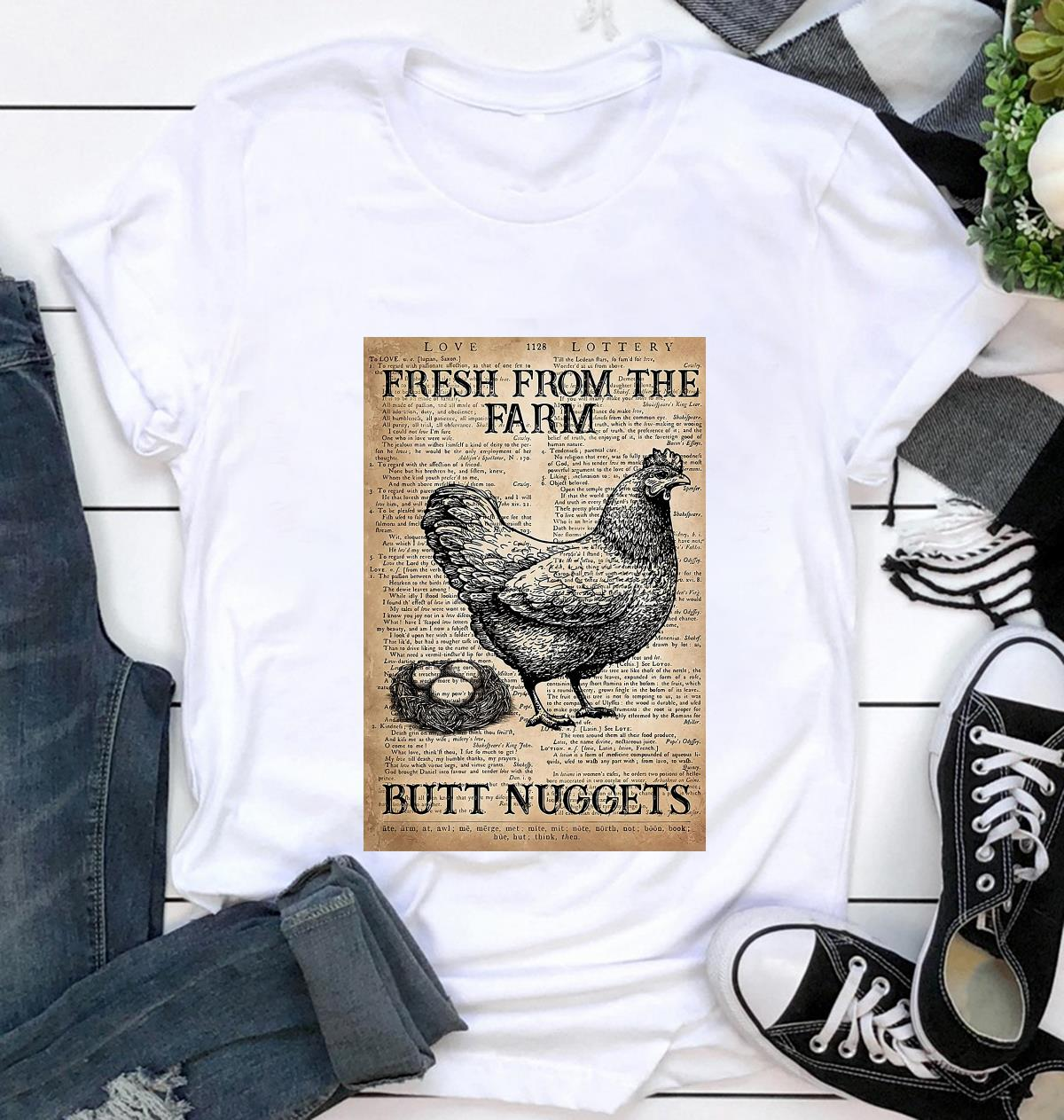 Dictionary chicken fresh from the farm butt nuggets poster t-shirt