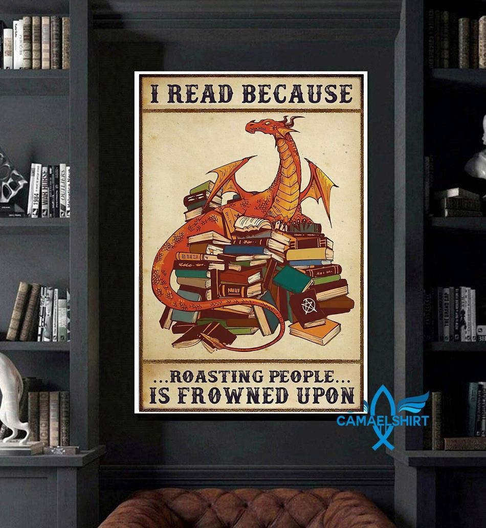 Dragon I read because roasting people is frowned upon poster art