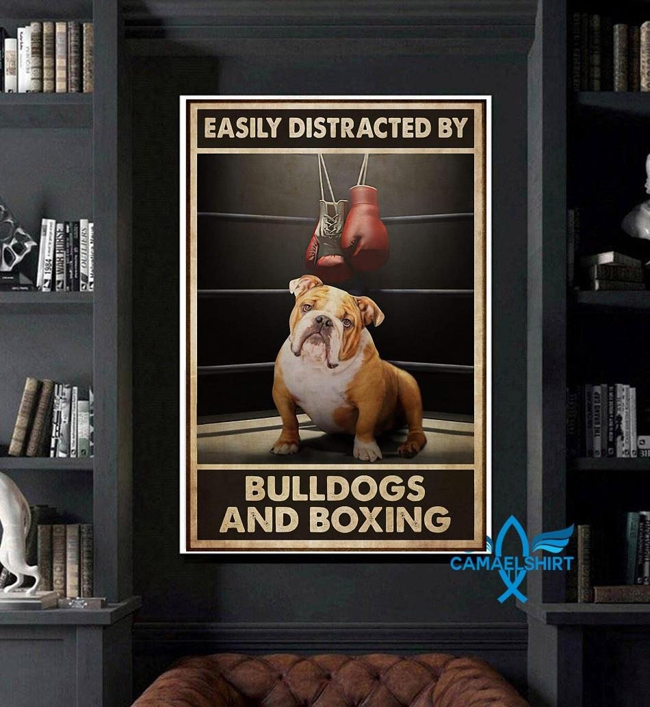 Easily distracted by bulldogs and boxing poster art