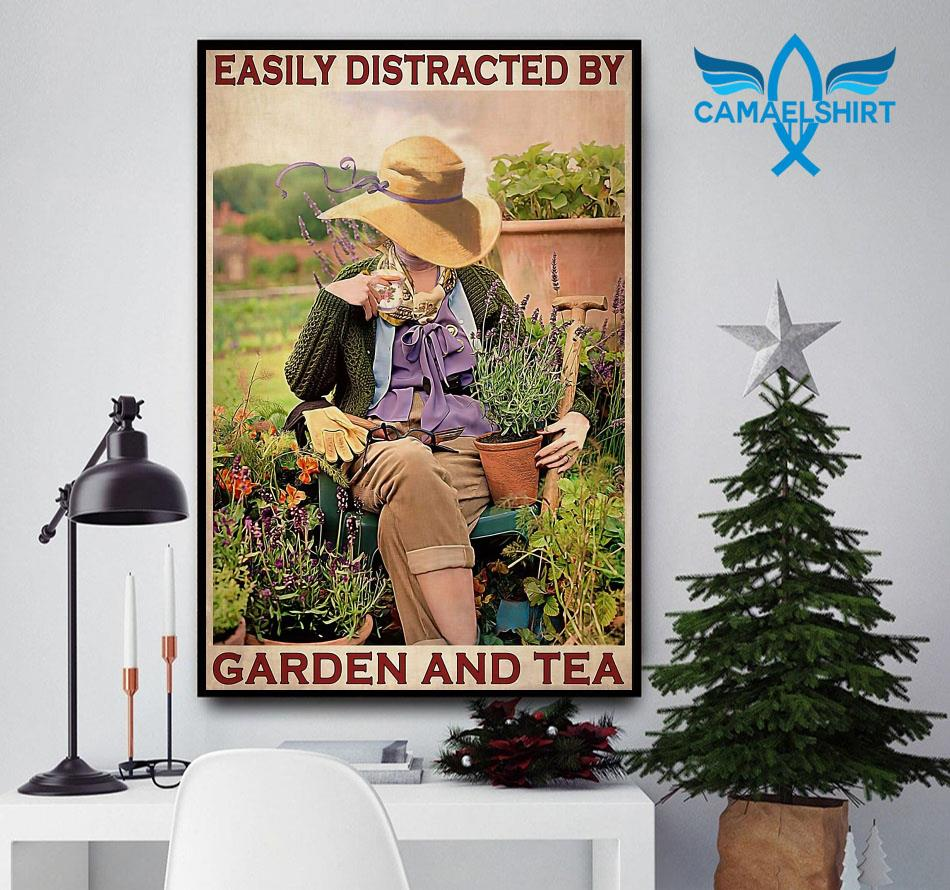 Easily distracted by garden and tea wall art