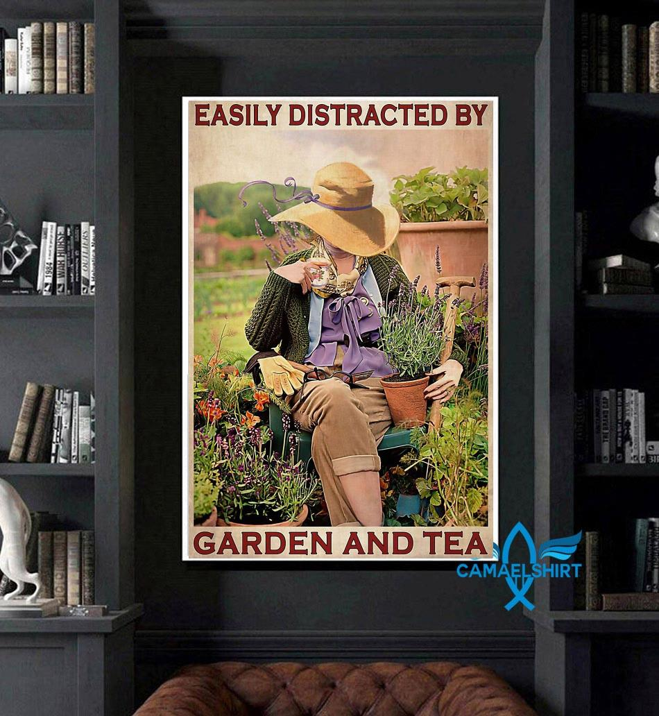 Easily distracted by garden and tea wall art art