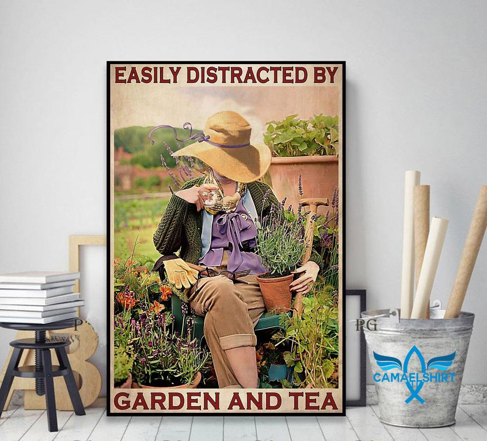 Easily distracted by garden and tea wall art decor art