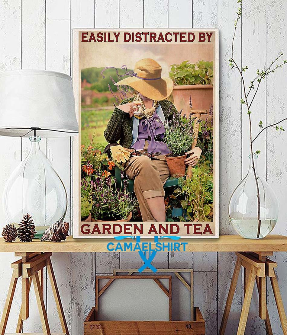Easily distracted by garden and tea wall art wall decor