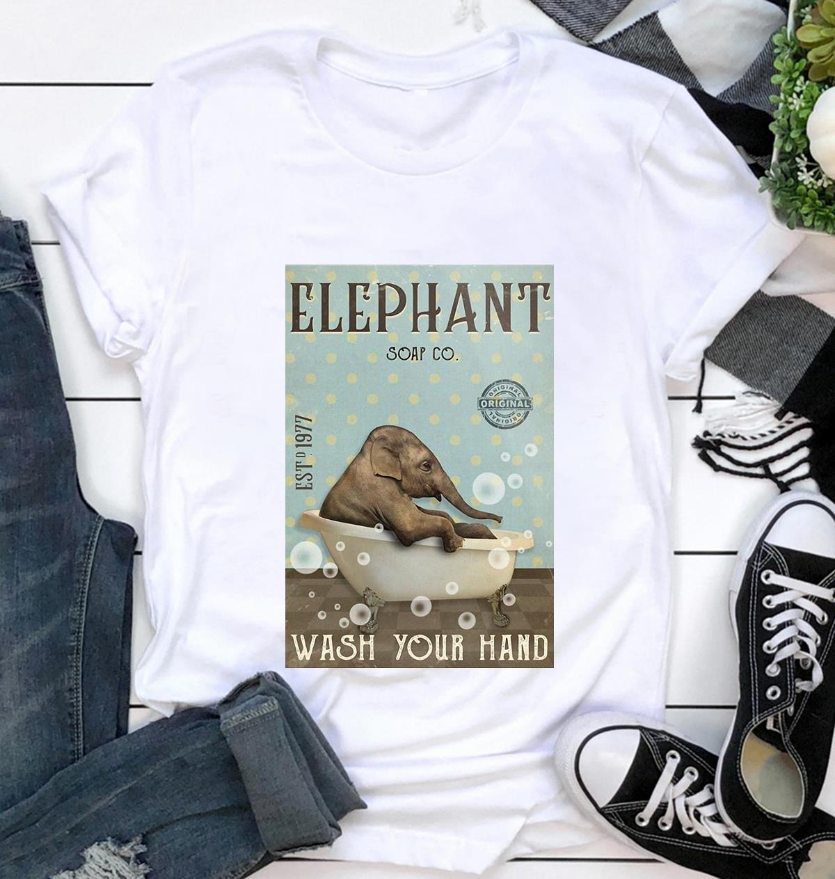 Elephant soap wash your hand poster t-shirt