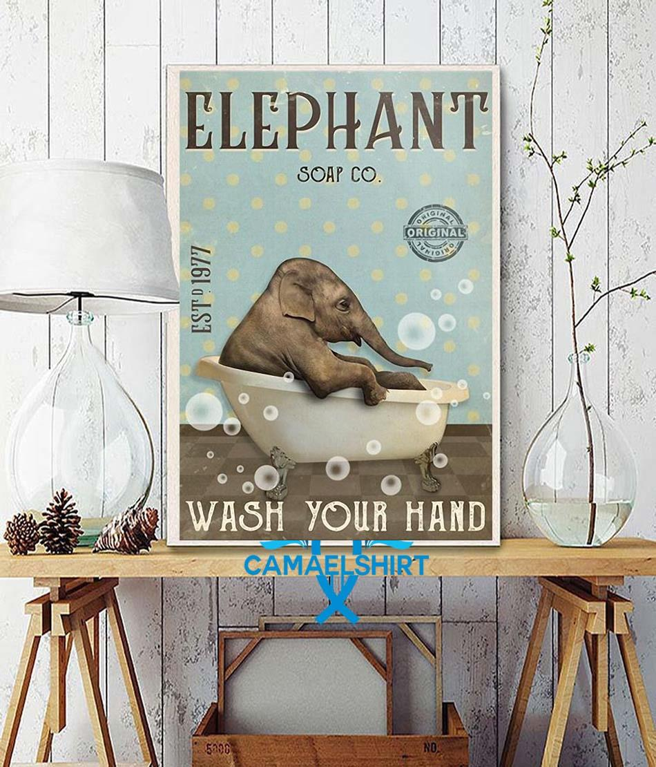Elephant soap wash your hand poster wall decor