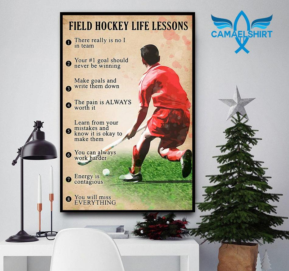 Field hockey life lessons poster