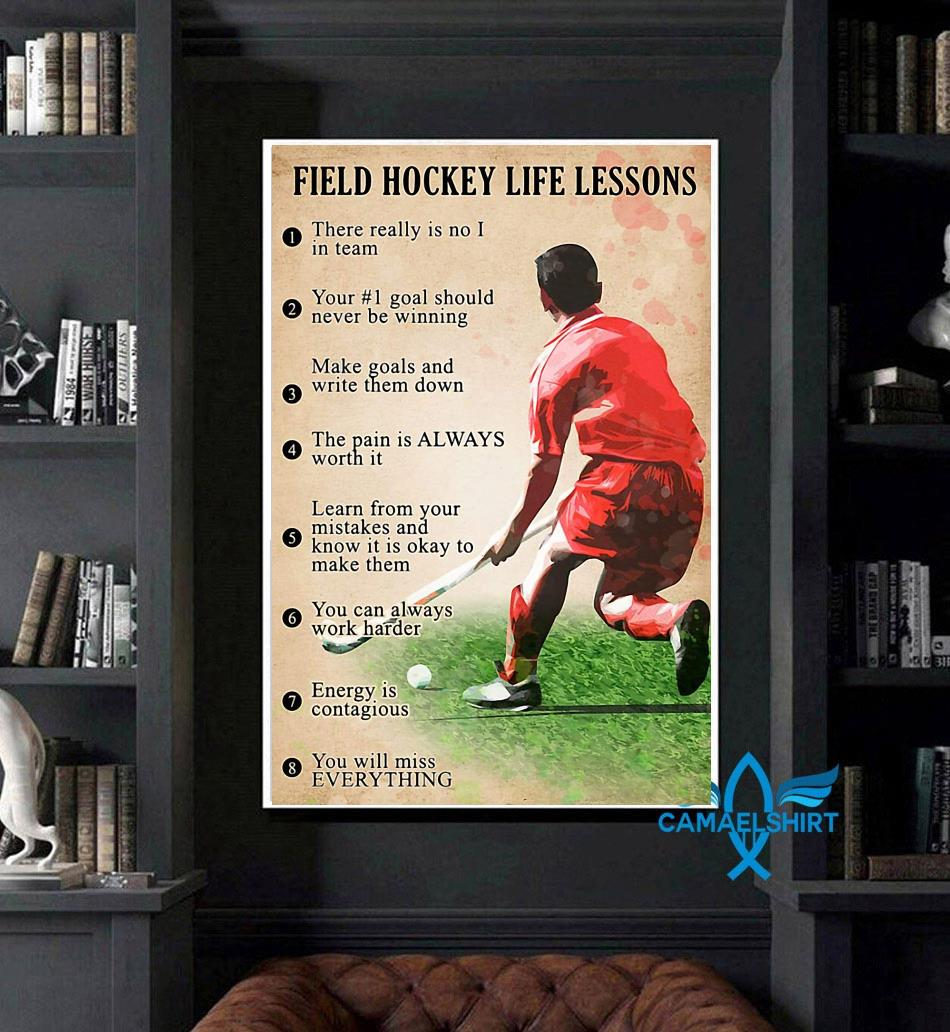 Field hockey life lessons poster art