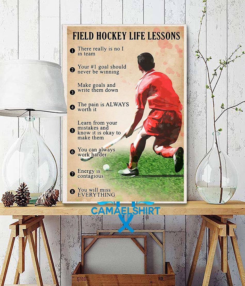 Field hockey life lessons poster wall decor