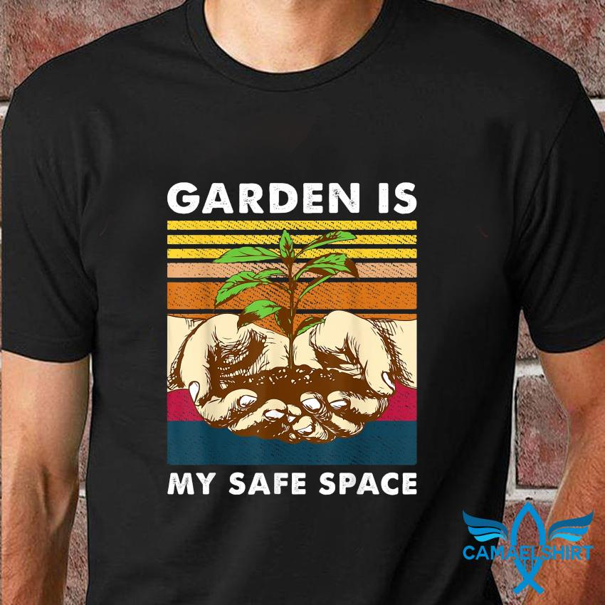 Garden is my safe space vintage t-shirt