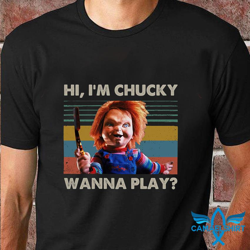 Hi I'm chucky wanna play vintage t-shirt