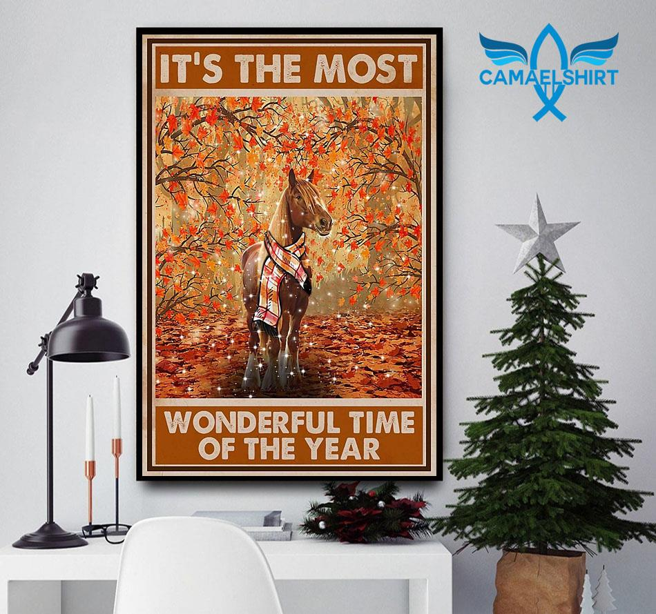 Horse it's the most wonderful time of the year poster