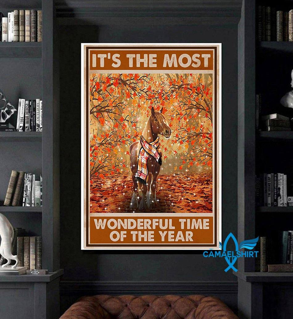 Horse it's the most wonderful time of the year poster art