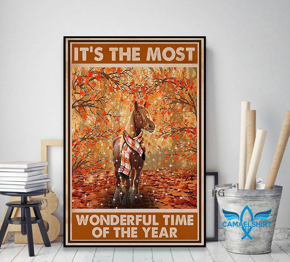 Horse it's the most wonderful time of the year poster decor art