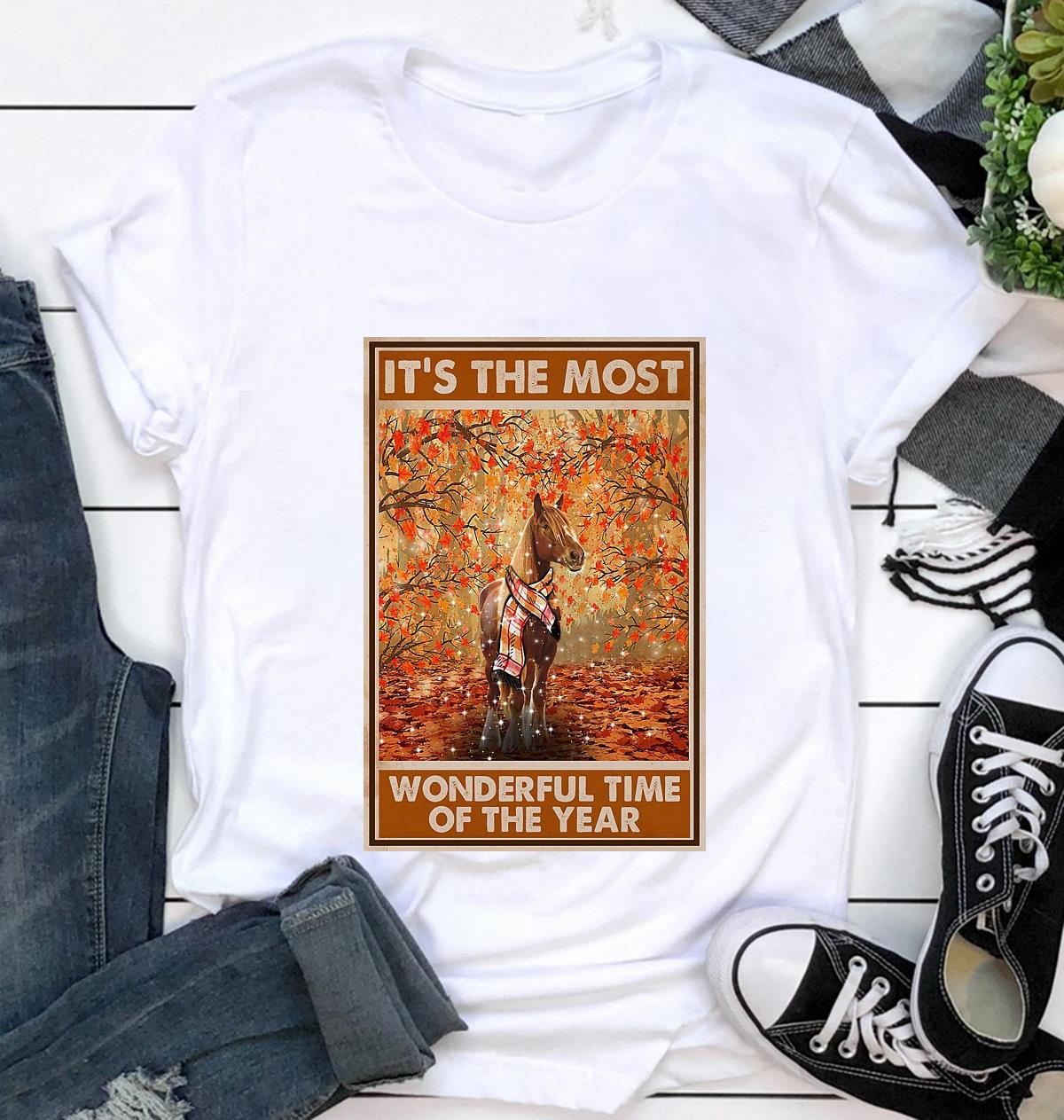 Horse it's the most wonderful time of the year poster t-shirt