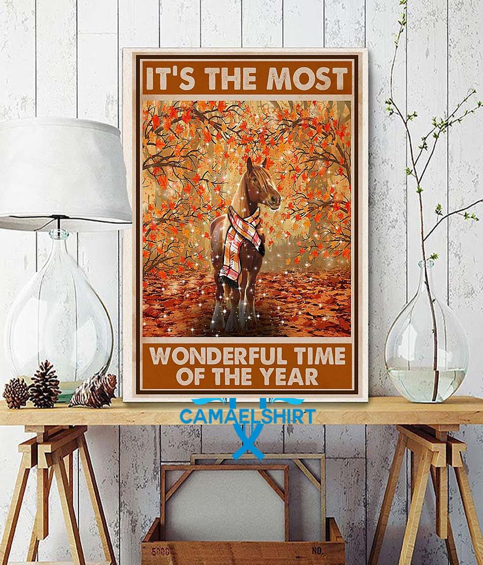 Horse it's the most wonderful time of the year poster wall decor