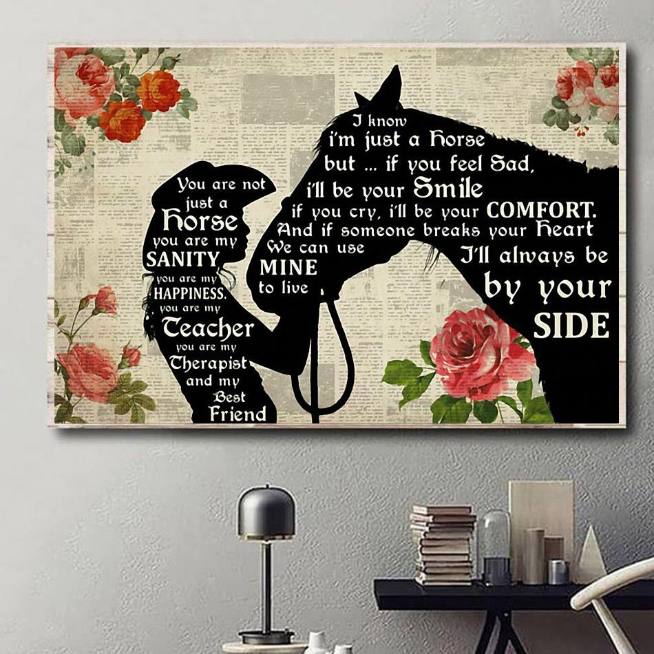 Horse you are not just a dog you are my sanity happiness poster