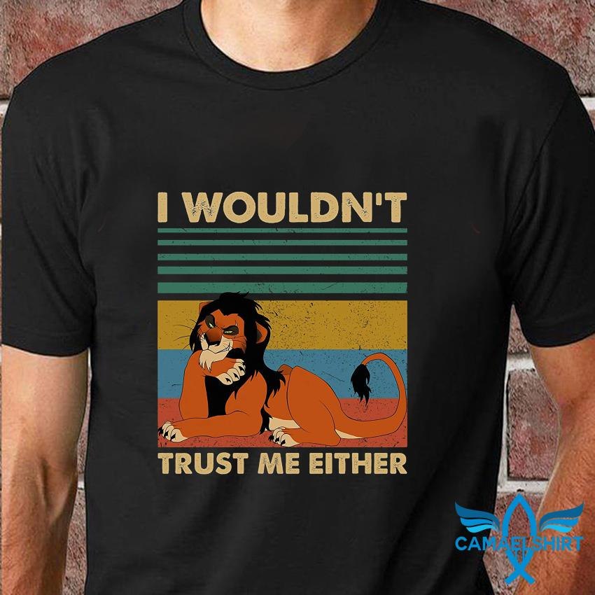 I wouldn't trust me eithe vintage t-shirt