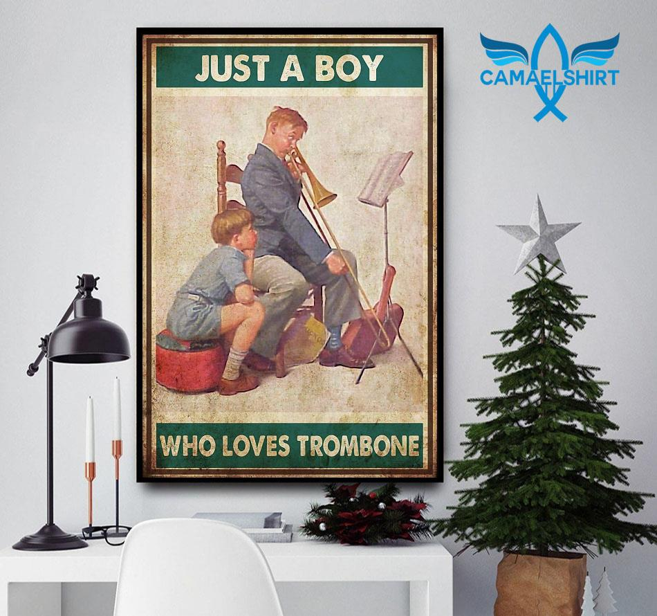 Just a boy who love trombone poster