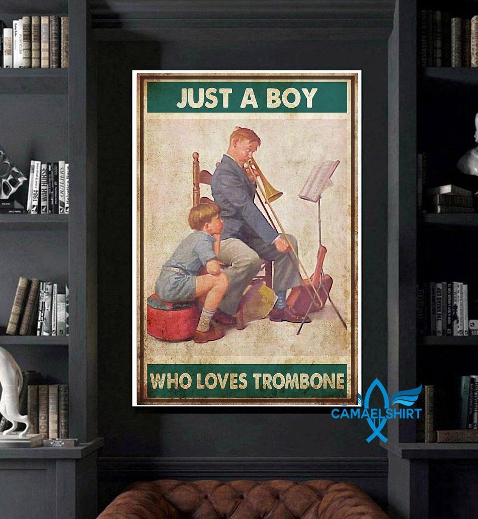 Just a boy who love trombone poster art