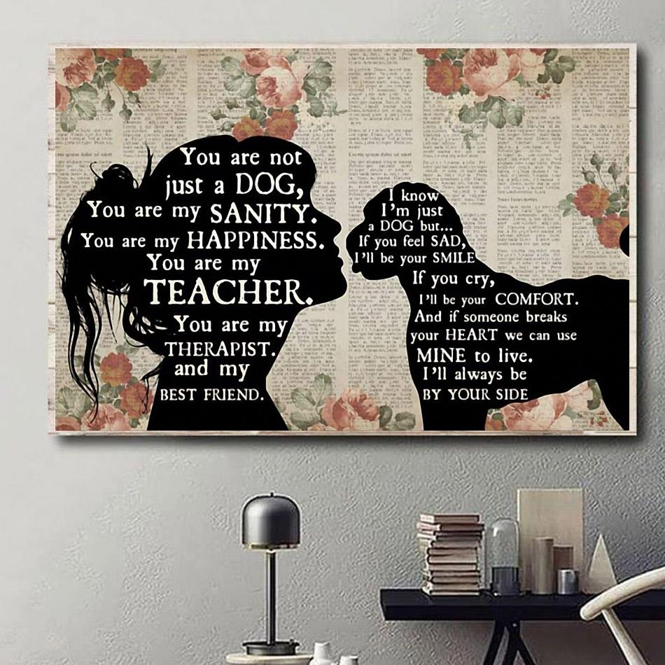 Labradoodle Girl Therapist you are not just a dog you are my sanity happiness poster