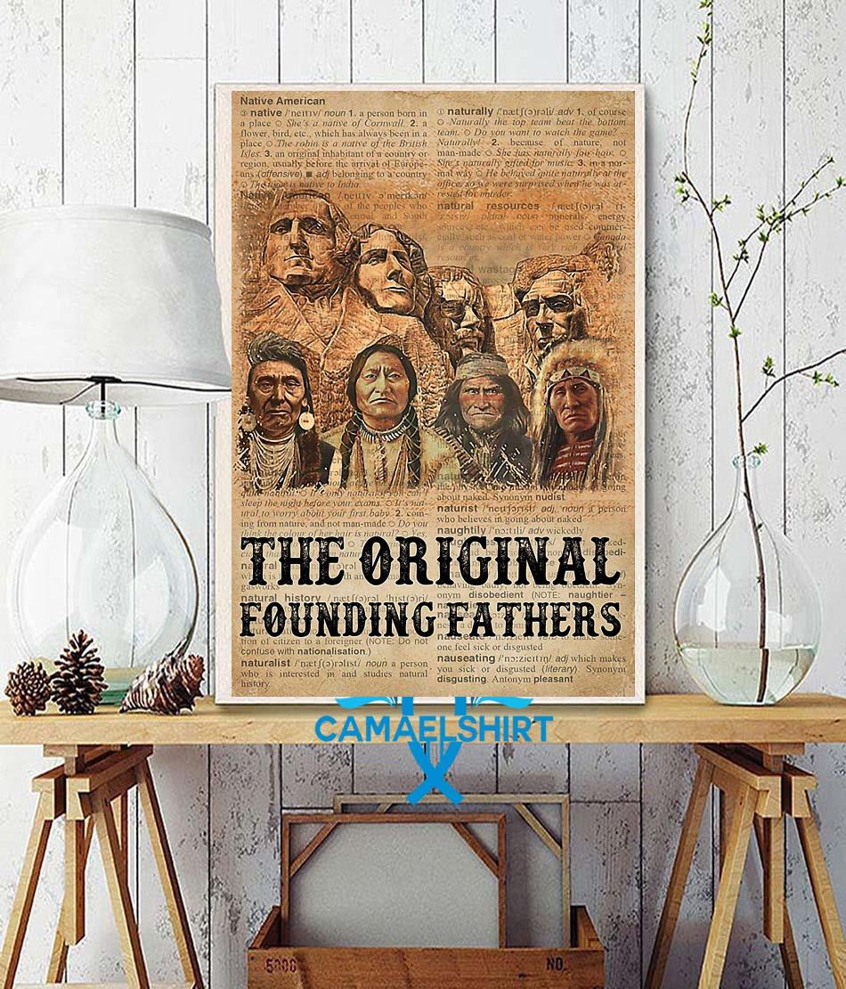 Native American the original founding fathers poster canvas wall decor