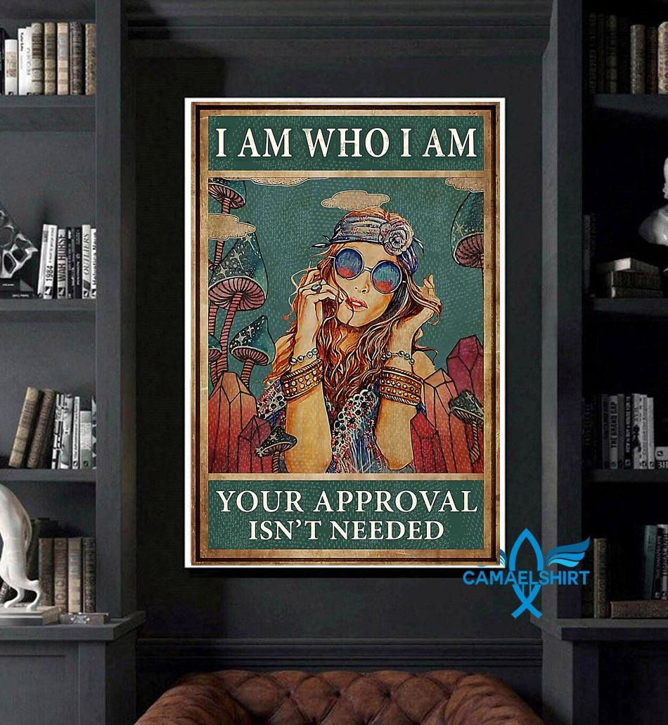 Redhead girl I am who I am your approval is not needed poster art