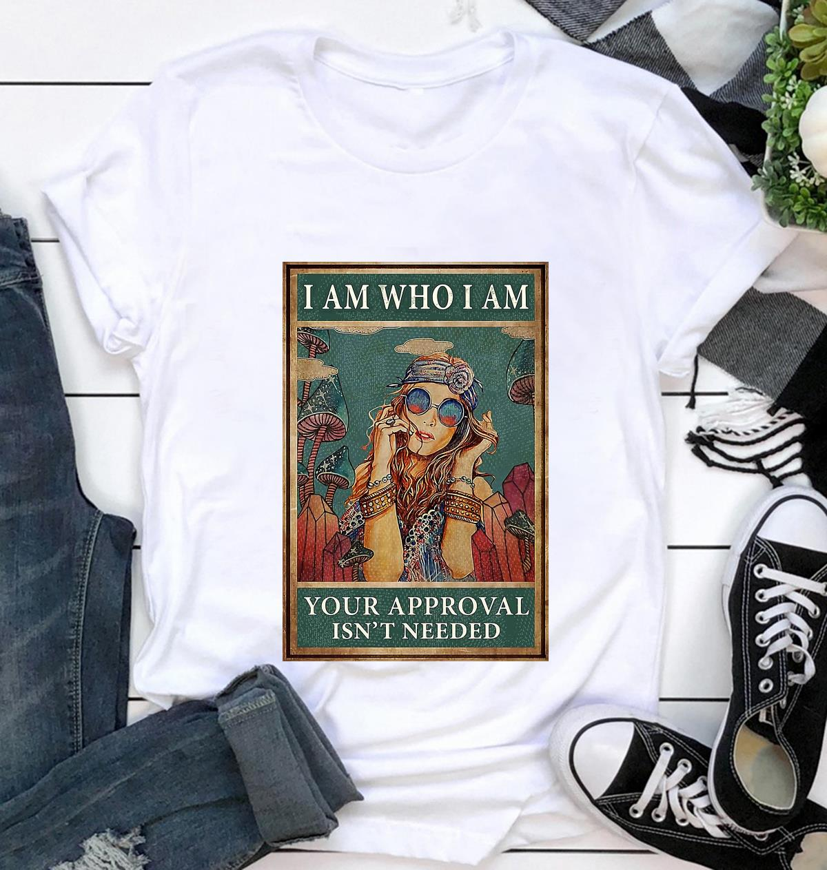 Redhead girl I am who I am your approval is not needed poster t-shirt