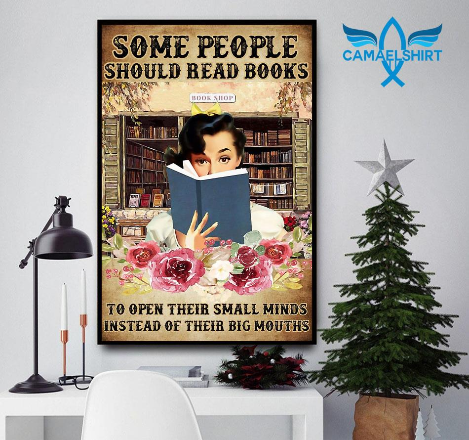 Some people should read books flower poster