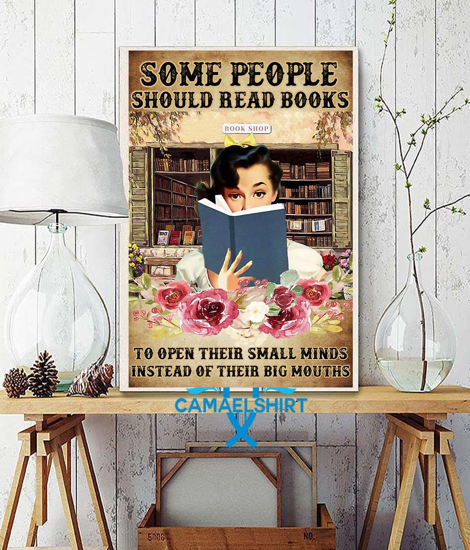 Some people should read books flower poster wall decor