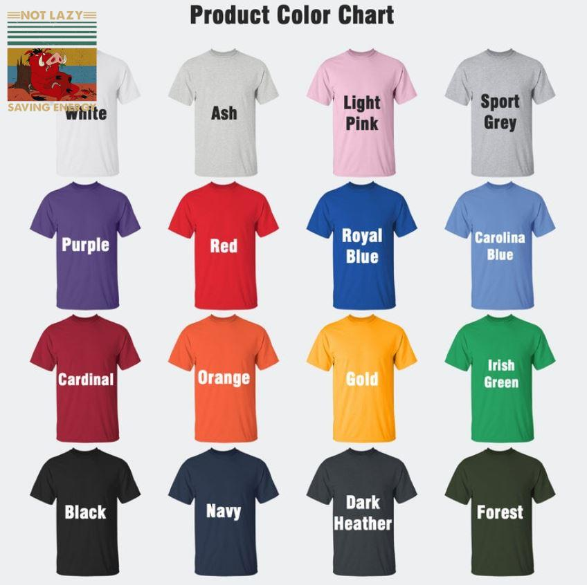 Timon and Pumbaa not lazy saving energy vintage t-s Camaelshirt Color chart