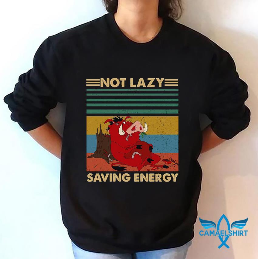 Timon and Pumbaa not lazy saving energy vintage t-s sweatshirt