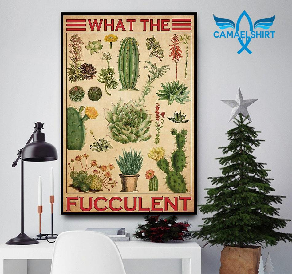 Types of cactus what the fucculent poster canvas