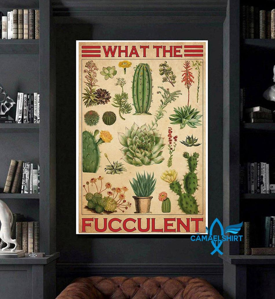 Types of cactus what the fucculent poster canvas art