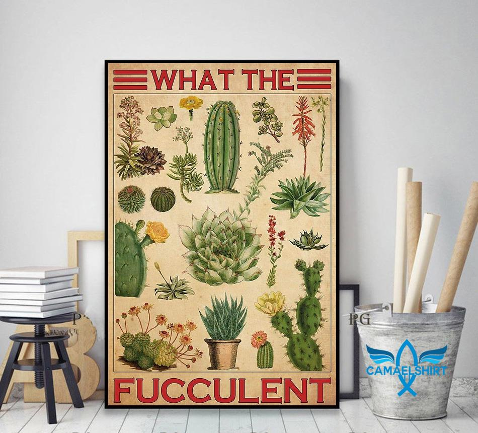 Types of cactus what the fucculent poster canvas decor art