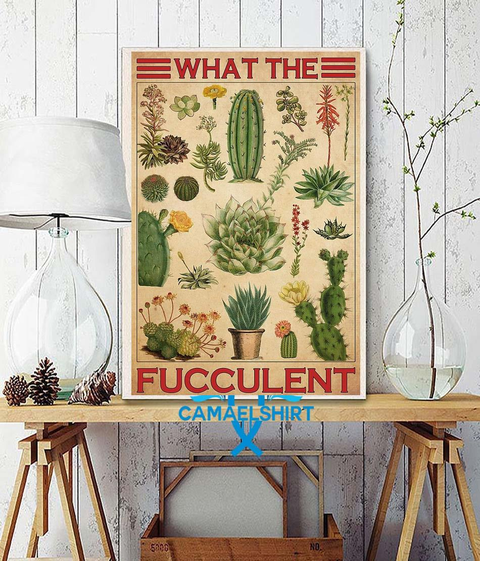 Types of cactus what the fucculent poster canvas wall decor