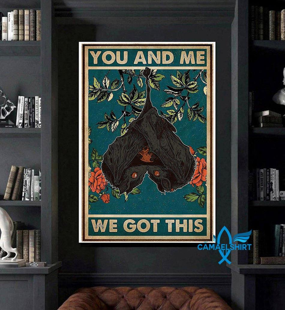 You and me we got this bat couple poster art