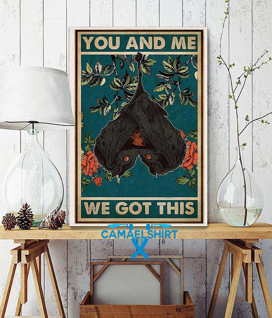 You and me we got this bat couple poster wall decor